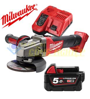 Combo Máy mài góc Milwaukee M18 CAG100X + 1Pin 5.0Ah + Sạc