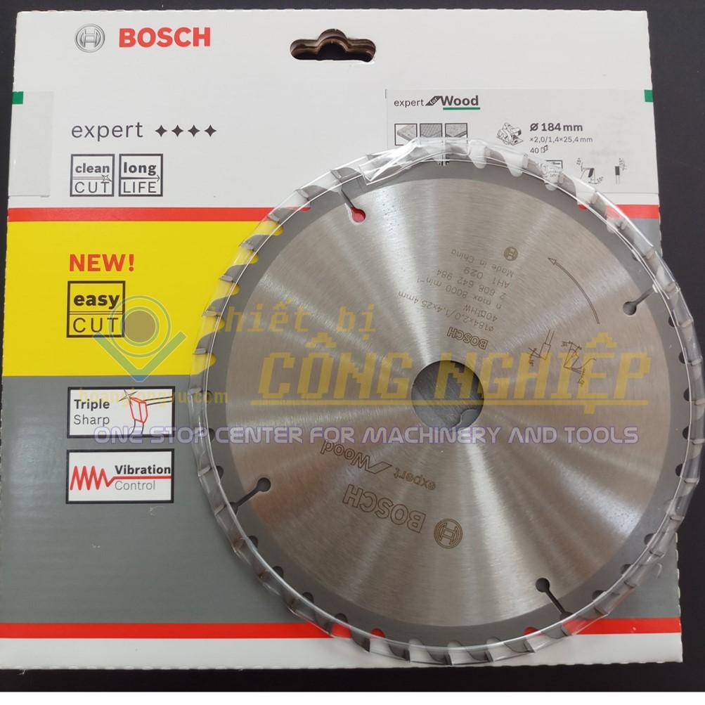 Lưỡi cưa gỗ 184mm T40 BOSCH (chuyên nghiệp) 2608642984