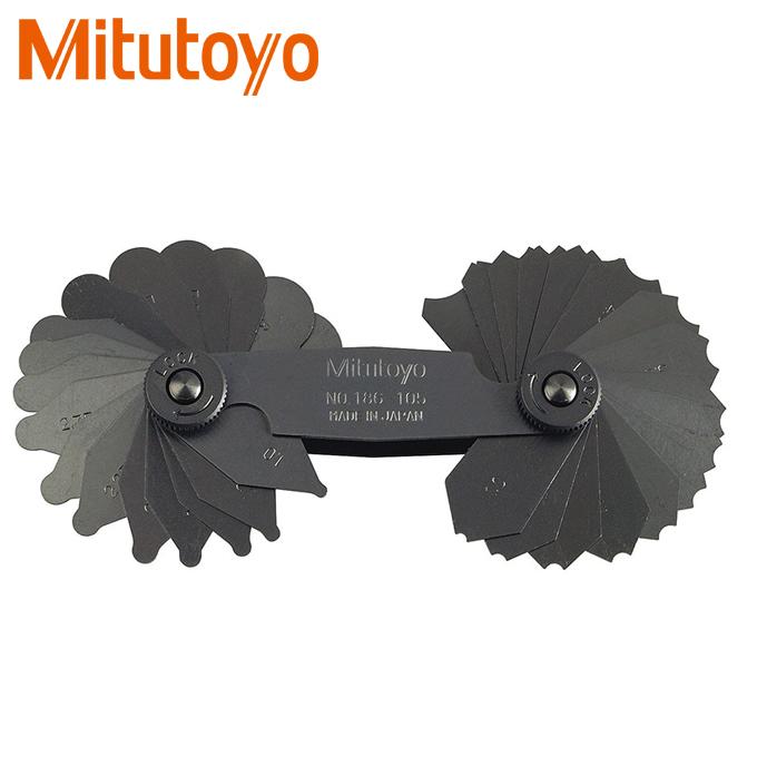 Thước đo bán kính 34 lá Mitutoyo 186-105 (1-7mm)