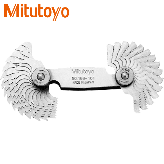Bộ dưỡng đo ren 30 lá Mitutoyo 188-101 (4-42TPI)