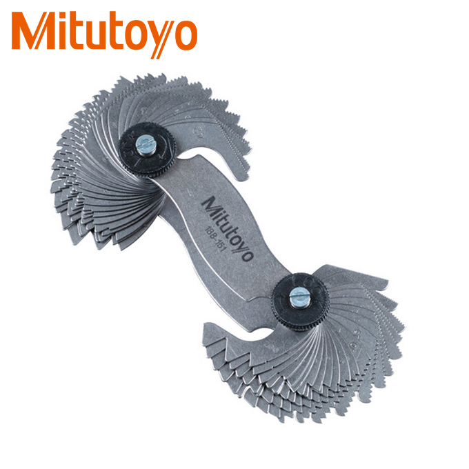 Bộ dưỡng đo ren 51 lá Mitutoyo 188-151 (0.4-7mm/4-42TPI)